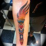 фото рисунок тату факел от 07.02.2018 №080 - torch tattoo - tatufoto.com