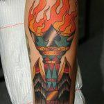 фото рисунок тату факел от 07.02.2018 №081 - torch tattoo - tatufoto.com