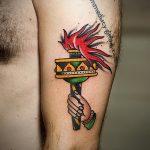 фото рисунок тату факел от 07.02.2018 №083 - torch tattoo - tatufoto.com
