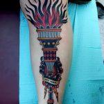 фото рисунок тату факел от 07.02.2018 №084 - torch tattoo - tatufoto.com