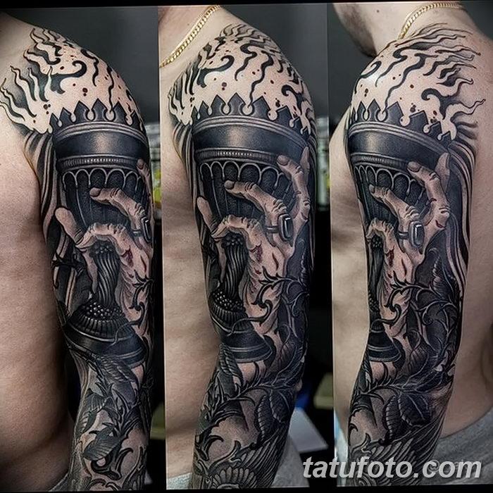 фото рисунок тату факел от 07.02.2018 №087 - torch tattoo - tatufoto.com