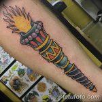 фото рисунок тату факел от 07.02.2018 №091 - torch tattoo - tatufoto.com