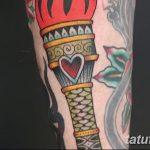фото рисунок тату факел от 07.02.2018 №093 - torch tattoo - tatufoto.com