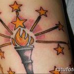 фото рисунок тату факел от 07.02.2018 №101 - torch tattoo - tatufoto.com