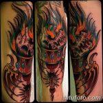 фото рисунок тату факел от 07.02.2018 №102 - torch tattoo - tatufoto.com