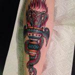 фото рисунок тату факел от 07.02.2018 №104 - torch tattoo - tatufoto.com