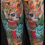 фото рисунок тату факел от 07.02.2018 №105 - torch tattoo - tatufoto.com