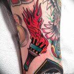фото рисунок тату факел от 07.02.2018 №106 - torch tattoo - tatufoto.com