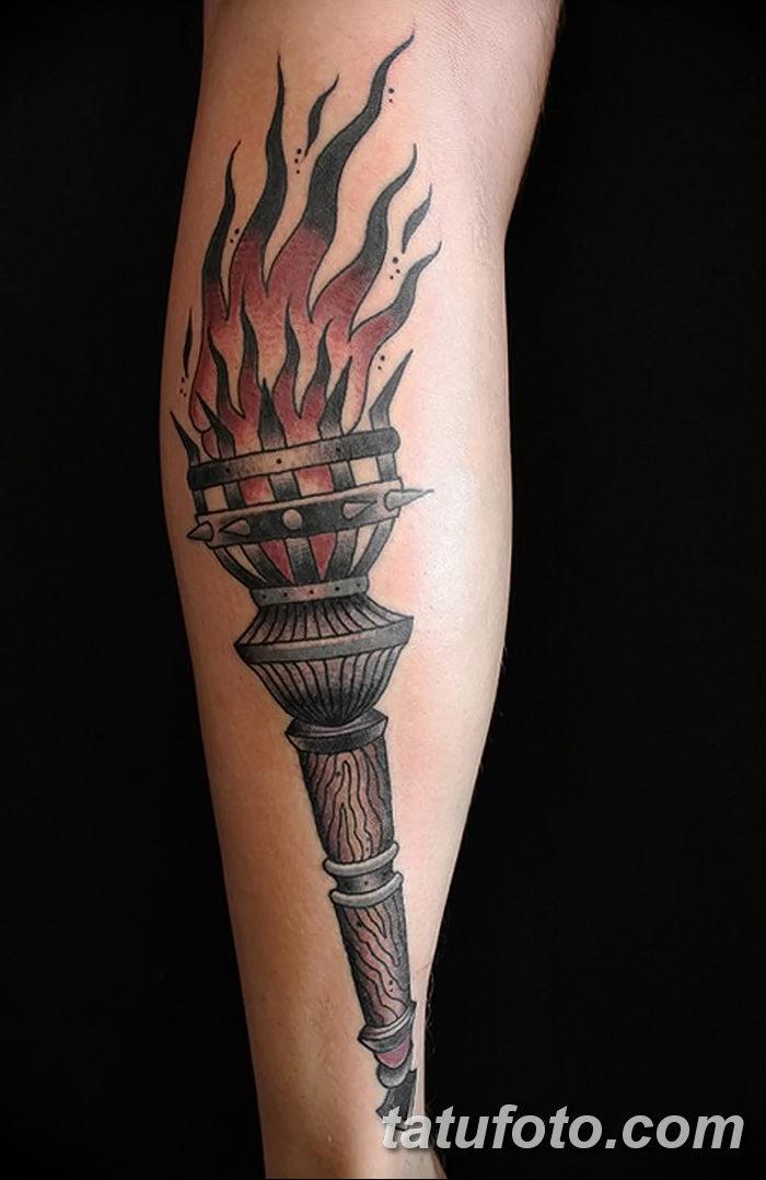 фото рисунок тату факел от 07.02.2018 №107 - torch tattoo - tatufoto.com