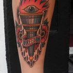 фото рисунок тату факел от 07.02.2018 №110 - torch tattoo - tatufoto.com