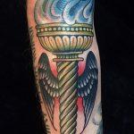 фото рисунок тату факел от 07.02.2018 №115 - torch tattoo - tatufoto.com