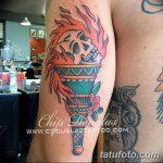 фото рисунок тату факел от 07.02.2018 №118 - torch tattoo - tatufoto.com