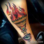 фото рисунок тату факел от 07.02.2018 №121 - torch tattoo - tatufoto.com