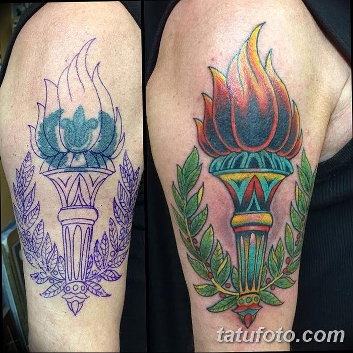 фото рисунок тату факел от 07.02.2018 №122 - torch tattoo - tatufoto.com