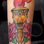 фото рисунок тату факел от 07.02.2018 №125 - torch tattoo - tatufoto.com