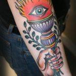 фото рисунок тату факел от 07.02.2018 №127 - torch tattoo - tatufoto.com