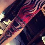 фото рисунок тату факел от 07.02.2018 №128 - torch tattoo - tatufoto.com