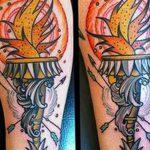 фото рисунок тату факел от 07.02.2018 №131 - torch tattoo - tatufoto.com