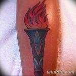 фото рисунок тату факел от 07.02.2018 №132 - torch tattoo - tatufoto.com
