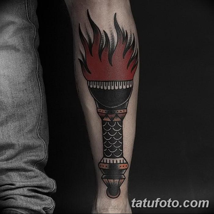 фото рисунок тату факел от 07.02.2018 №141 - torch tattoo - tatufoto.com
