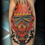 фото рисунок тату факел от 07.02.2018 №143 - torch tattoo - tatufoto.com