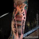 фото рисунок тату факел от 07.02.2018 №147 - torch tattoo - tatufoto.com