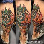 фото рисунок тату факел от 07.02.2018 №148 - torch tattoo - tatufoto.com