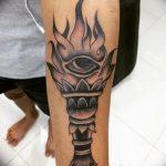 фото рисунок тату факел от 07.02.2018 №150 - torch tattoo - tatufoto.com