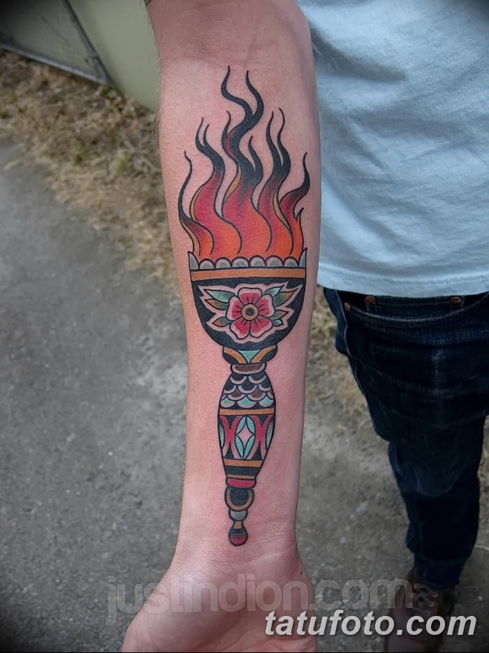 фото рисунок тату факел от 07.02.2018 №151 - torch tattoo - tatufoto.com