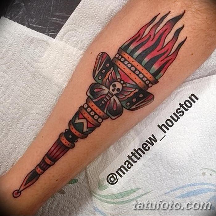 фото рисунок тату факел от 07.02.2018 №156 - torch tattoo - tatufoto.com