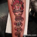 фото рисунок тату факел от 07.02.2018 №157 - torch tattoo - tatufoto.com