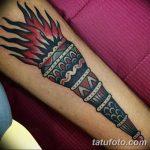 фото рисунок тату факел от 07.02.2018 №158 - torch tattoo - tatufoto.com