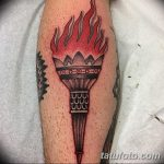 фото рисунок тату факел от 07.02.2018 №159 - torch tattoo - tatufoto.com