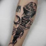 фото рисунок тату факел от 07.02.2018 №161 - torch tattoo - tatufoto.com