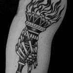 фото рисунок тату факел от 07.02.2018 №162 - torch tattoo - tatufoto.com