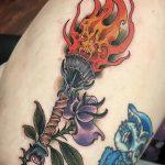 фото рисунок тату факел от 07.02.2018 №164 - torch tattoo - tatufoto.com