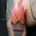 фото рисунок тату факел от 07.02.2018 №166 - torch tattoo - tatufoto.com