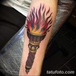 фото рисунок тату факел от 07.02.2018 №168 - torch tattoo - tatufoto.com