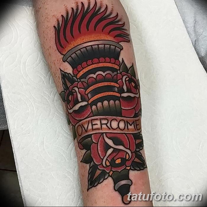фото рисунок тату факел от 07.02.2018 №171 - torch tattoo - tatufoto.com