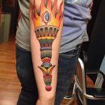 фото рисунок тату факел от 07.02.2018 №174 - torch tattoo - tatufoto.com