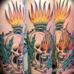 фото рисунок тату факел от 07.02.2018 №175 - torch tattoo - tatufoto.com