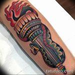 фото рисунок тату факел от 07.02.2018 №176 - torch tattoo - tatufoto.com