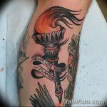 фото рисунок тату факел от 07.02.2018 №178 - torch tattoo - tatufoto.com