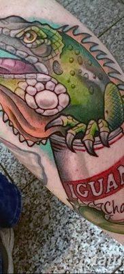 фото тату Игуана от 09.02.2018 №019 – Iguana tattoo – tatufoto.com