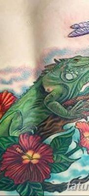 фото тату Игуана от 09.02.2018 №020 – Iguana tattoo – tatufoto.com