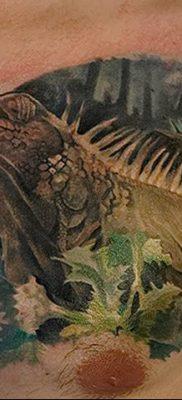 фото тату Игуана от 09.02.2018 №025 – Iguana tattoo – tatufoto.com 2367367345