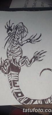 фото тату Игуана от 09.02.2018 №027 – Iguana tattoo – tatufoto.com