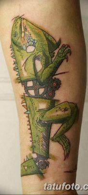 фото тату Игуана от 09.02.2018 №029 – Iguana tattoo – tatufoto.com