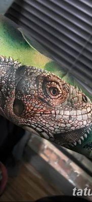 фото тату Игуана от 09.02.2018 №031 – Iguana tattoo – tatufoto.com