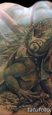 фото тату Игуана от 09.02.2018 №036 – Iguana tattoo – tatufoto.com